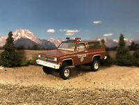1981 Chevy Blazer K5 4x4 Lifted Custom 1/64 Diecast Truck Off Road Police 4WD
