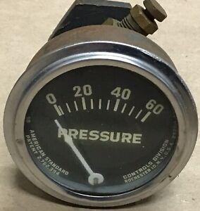 American Standard Controls Division Pressure Gauge 0-60 PSI