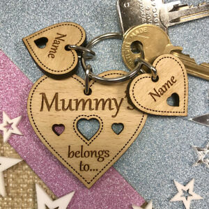 Personalised Gifts For Her Mum Mummy Nanny Nana Granny Nan Birthday Keyring Gift