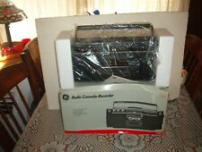 NOS GENERAL ELECTRIC BOOMBOX AM / FM RADIO CASSETTE PLAYER G E 3 - 5454