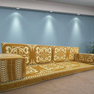 ARABIC Majlis Sofa Set | FLOOR Level Furniture | PREMIUM Quality Foam Insert