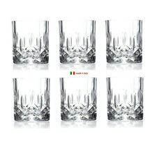 Crystal Whiskey Tumblers Set of 6 | Italian Drinkware