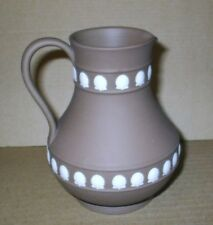 Wedgwood Jasperware Dark Taupe Brown Shell Jug
