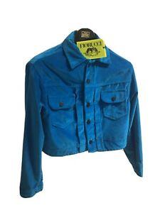 fiorucci Turquoise Velvet Jacket
