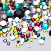 BORN PRETTY Rhinestone 3D Nail Art Decoration Tips Colorful Crystal Mixed Size