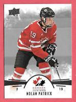 2016-17 Nolan Patrick 19 Card Lot Upper Deck Team Canada Juniors Rookie #65
