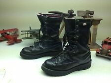 VINTAGE DANNER FORT LEWIS BLACK DISTRESSED ENGINEER TRAIL BOSS BOOTS SIZE 8 D
