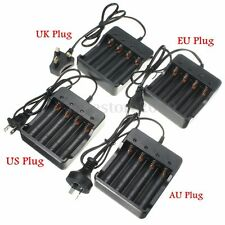 Universal 18650 1-4x Rechargeable Battery Charger Li-ion Travel Wall Charger