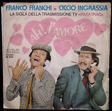 Franco Franchi E Ciccio Ingrassia – Ah! L'Amore-45 giri VG+/EX 1982 Patatrac!