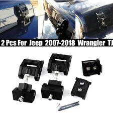 2PCS Black Aluminum Hood Latches For JEEP 2007-2018 Wrangler TJ
