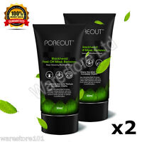 POREOUT 50ml x 2 Blackhead Acne Mask Peel-Off Mud Remover Face Deep Cleansing UK
