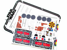 CUSTOM STICKERS for STAR WARS VINTAGE MILLENNIUM FALCON millenium Kenner