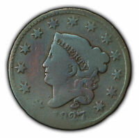 1827 1c Coronet Head Large Cent - Better Date - SKU-Y2368