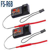 2pcs FlySky FS-R6B 2.4GHz 6CH RC Empfänger für FlySky TH9X FS-CT6B FS-T6 Sender