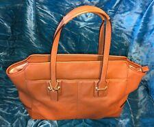 Oop Coach Taylor Alexis Saddle Tan Leather Carryall Purse $498 F25205 Handbag