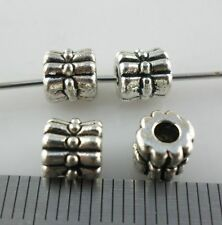 30pcs Tibetan Silver Bow-knot Spacer Beads 6x6mm Charms Jewelry Findings