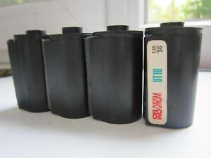 Vintage Photo Film Reusable Cassette Lot of 4 Empty Soviet 1960's USSR 35mm