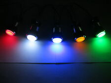 NEW CHROME LED lit Arcade Push Button Mame Multicade Choice of 5 Colors