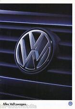 VW Prospekt 1996 1/96 Sharan Passat VR6 Variant Vento Golf Cabrio Polo Classic