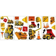 CONSTRUCTION TRUCKS wall stickers 23 decals decor signs cement bulldozer crane +