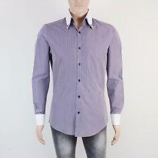 Taylor & Wright Mens Size M 15.5 Neck Purple Stripe Long Sleeve Shirt