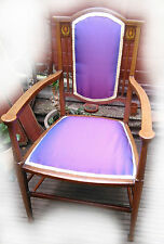 Fabric Art Deco Antique Chairs