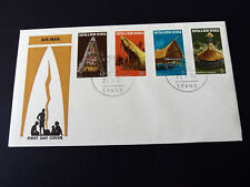 PNG 1971 -National Heritage Stamp Issue - Native Dwellings  First Day Cover