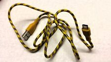 Yellow USB 2.0 charging cable for Android (Samsung, Motorolla, HTC etc 3Ft (USA)