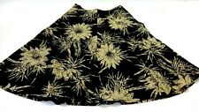 TALBOTS WOMEN'S BLACK & TAN COTTON FLORAL SKIRT SIZE 6P SUPER CUTE!