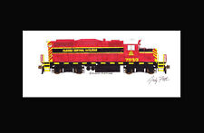 "Florida Central GP9RM #7030 11""x17"" Matted Print Andy Fletcher signed"