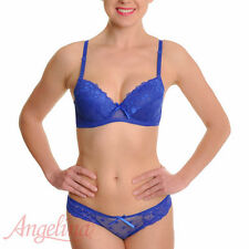 WOMEN'S BRA AND PANTY SET,  ROSES & LACE ACCENTS, 6 COLORS!  34B-38C & 40C, NWT!