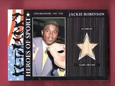 JACKIE ROBINSON GAME USED BAT CARD 2009 TOPPS HERITAGE HEROES OF SPORT DODGERS