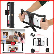 Portable Dual Handle Hand Held Phone Adjustable Stabilizer Support Recording Rig