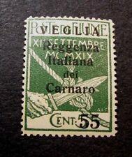 Flume  Stamp Scott#  133  Overprinted  1920  MH  C424