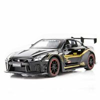 1:32 NISSAN GTR R35 RACE DIECASTS TOY VEHICLES METAL CAR MODEL SOUND LIGHT GIFT