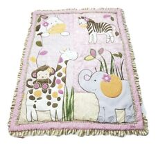Cocalo JACANA JUNGLE Crib Comforter Quilt Girls Nursery Pink Purple