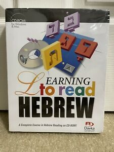 New & Sealed Davka Corporation Learning To Read Hebrew CD-ROM For Windows/Mac