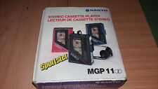WALKMAN SANYO MGP !! STEREO CASSETTE PLAYER IN BOX WORKING