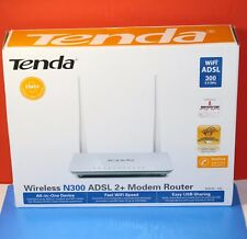 Tenda D301 Wireless N300 ADSL2+ Modem Router - BASE UNIT ONLY