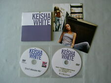 KEISHA WHITE job lot of 3 promo CD/DVDs Don't Care Who Knows Don't Mistake Me