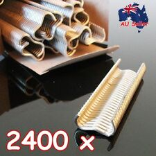 2400 x Heavy Duty Hog Ring 17mm M Clips Staples Chicken Mesh Cage Wire Fencing