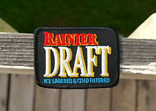 """Rainier Draft Ice Lagered & Cold Filtered Beer Embroidered Patch 3 1/2"""" x 2 3/4"""""""