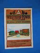 Vintage Western Town Mini Structures HO Scale Cutout Buildings station putz