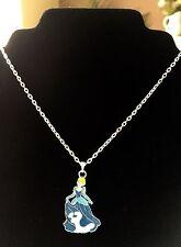 "Cinderella Princess Pendant 16"" Silver Plated Chain  Gift"