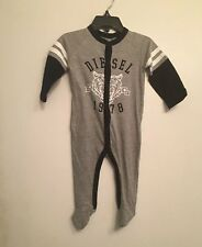 NWT DIESEL Baby Boys Footed L/S Coverall Pajamas Sleeper Size 3-6 Months