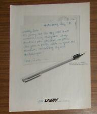 Seltene Werbung LAMY CP1 Füllhalter Füller 1978
