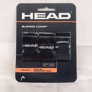 HEAD Super Comp Racquet Overgrip Tennis Racket Grip Tape 3-Pack Black
