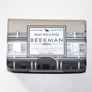 Beekman 1802 Goat Milk Soap Honey & Oat scrub bar 9 oz with cocoa butter