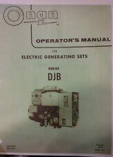 Onan Diesel Djb Electric Generator Set Owners Manual