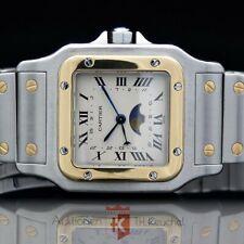 Cartier Santos Galbée Mondphase Stahl Gold 18K, großes Model: 29 mm Ref. 119901